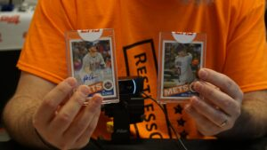 Event exclusive Pete Alonso 1/1s from the Topps Million Card Rip Party